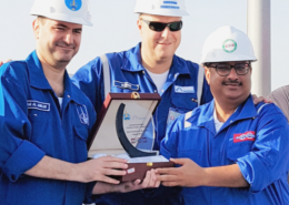 Subcontractor of the Month Award (August 2016) for Al Dabbiya Surface Facilities Phase III Project.