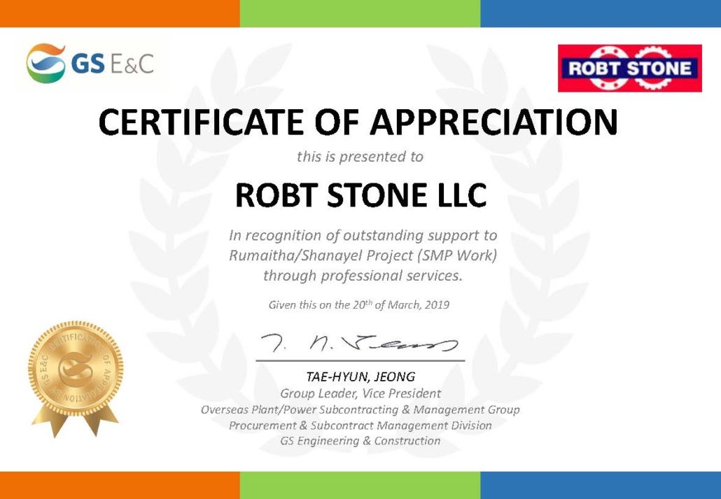 Awards & Recognitions – ROBTSTONE